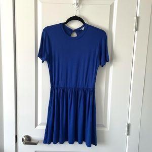NEW VELVET TORCH / ROYAL BLUE MINI DRESS